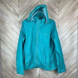 Columbia light windbreaker jacket w hidable hood